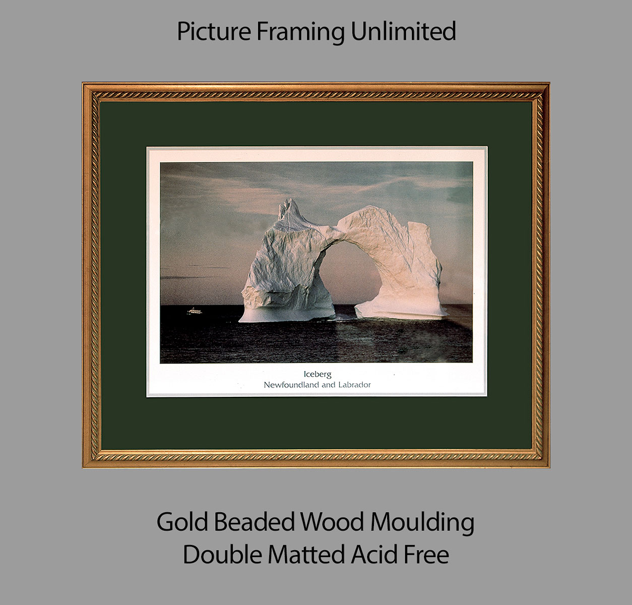 Gold Beaded Wood Moulding by Picture Framing Unlimited